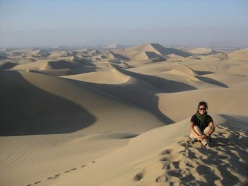 The sand dunes of Ica, Peru