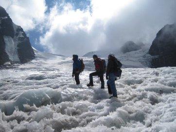 Climbing Pequeno Alpamayo, Bolivia